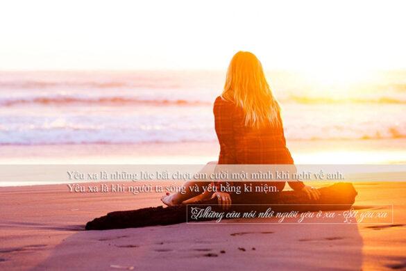 Những câu nói nhớ người yêu ở xa - STT yêu xa
