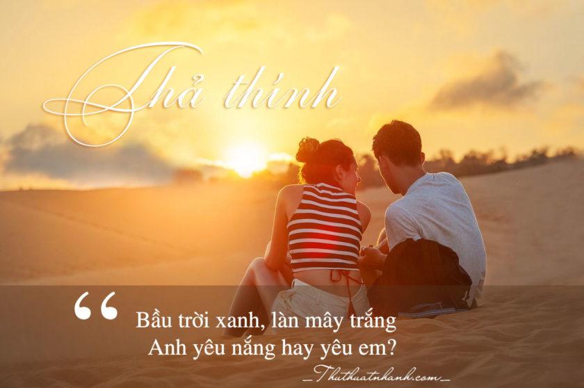 Những câu thả thính hay nhất cho con trai, con gái