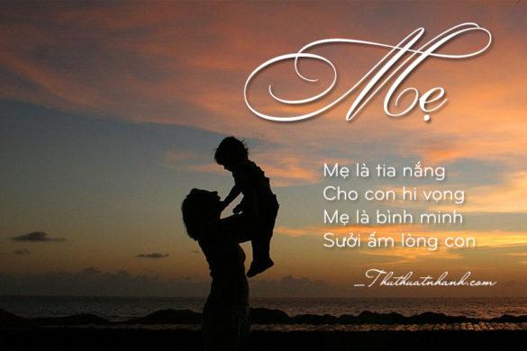 thơ 4 chữ hay nhất về mẹ
