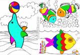 tranh tô màu con cá cho bé