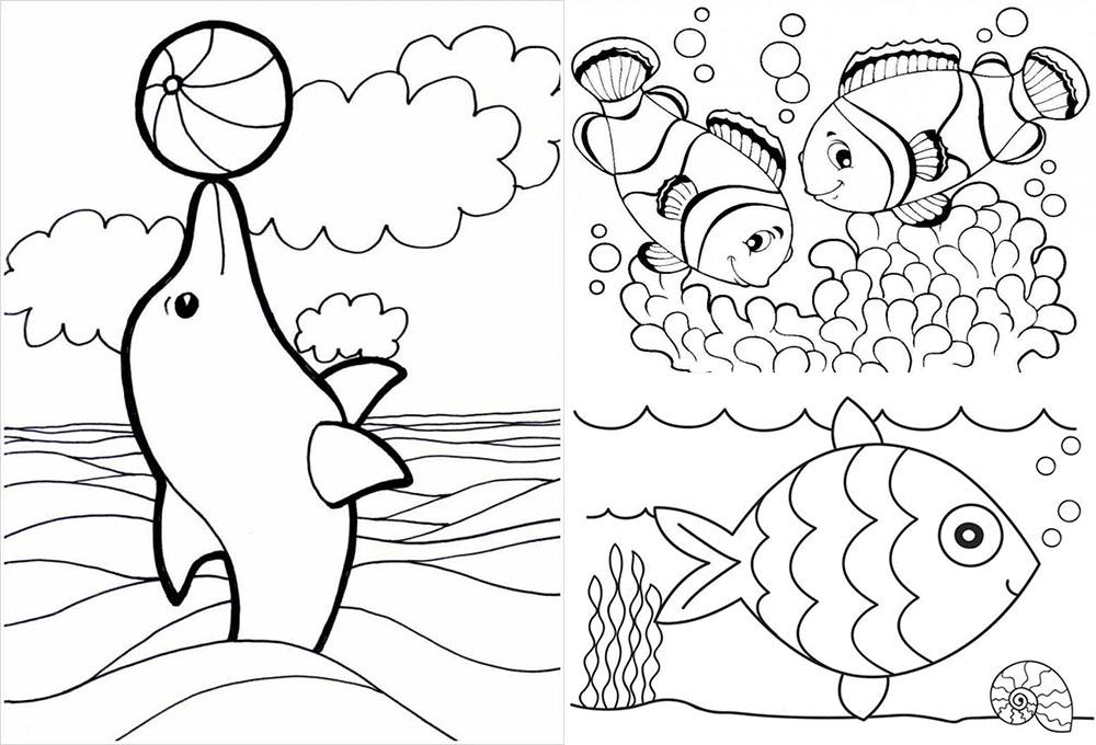tranh tô màu con cá đẹp