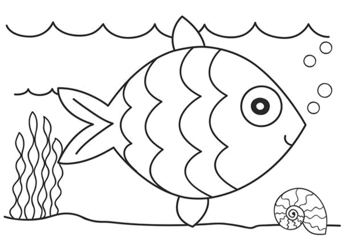 tranh vẽ chú cá dễ thương