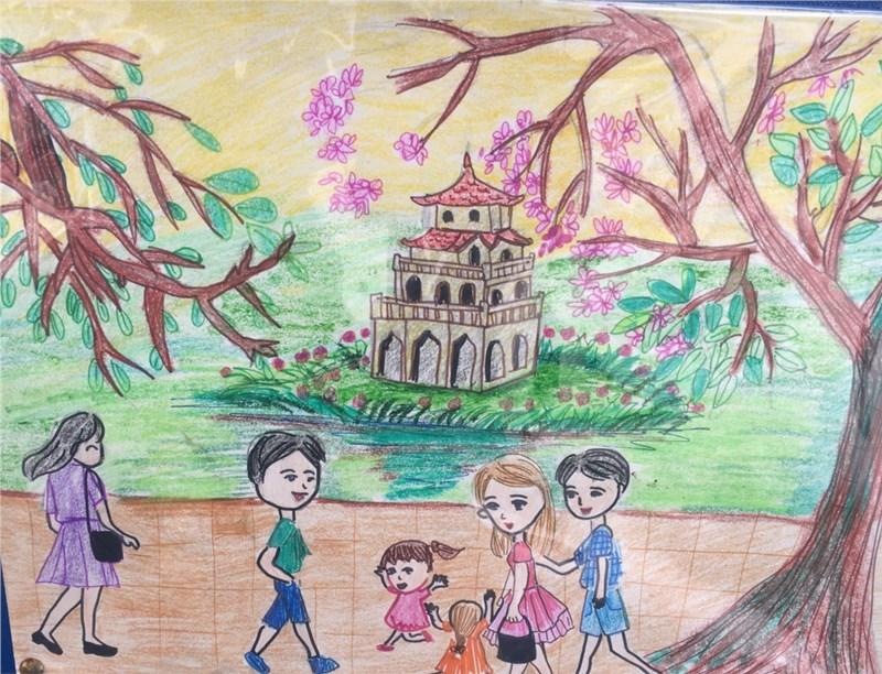 tranh vẽ hà nội của học sinh