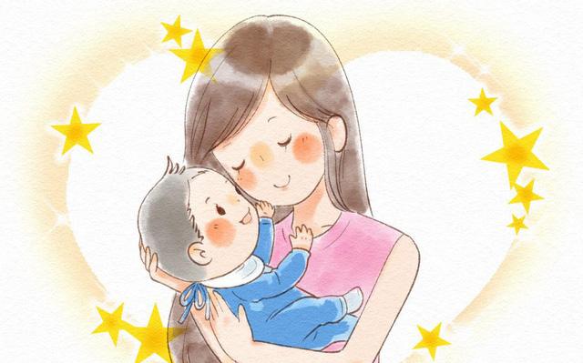 tranh vẽ mẹ ôm con tình cảm âu yếm