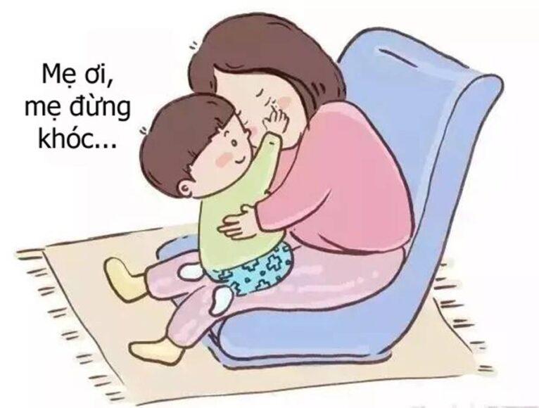 vẽ tranh mẹ và con tình cảm yêu thương