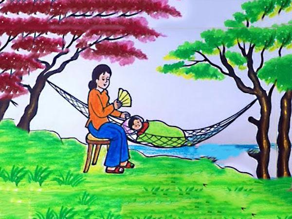 vẽ tranh tặng mẹ ngày 8 3