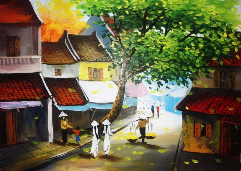 vẽ tranh về Hà Nội