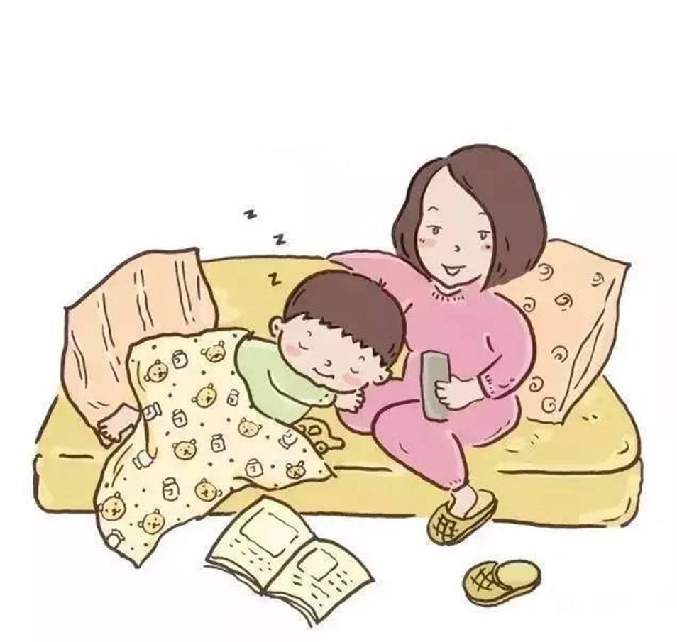 vẽ tranh về mẹ ru con ngủ