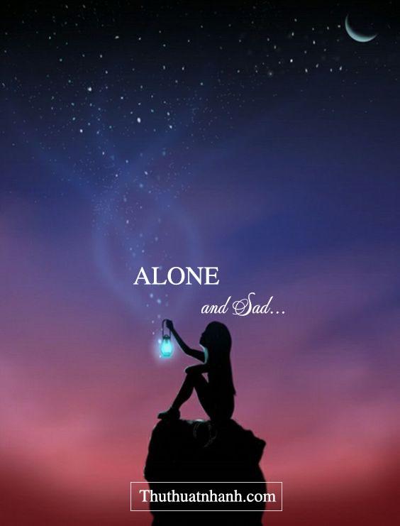 ảnh avatar cô đơn Alone and sad