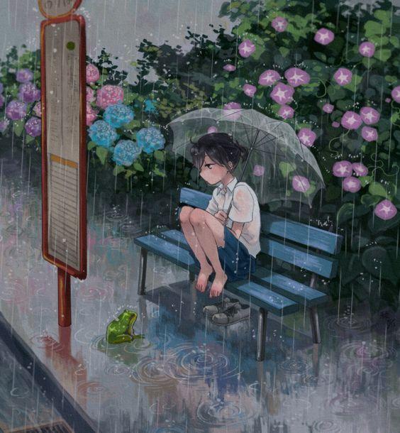 ảnh đại diện cô đơn anime cho nữ