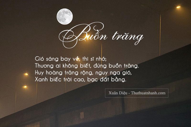 bài thơ xuân diệu buồn trăng
