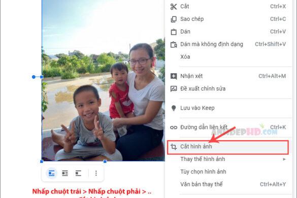 cách cắt hình ảnh trong google docs