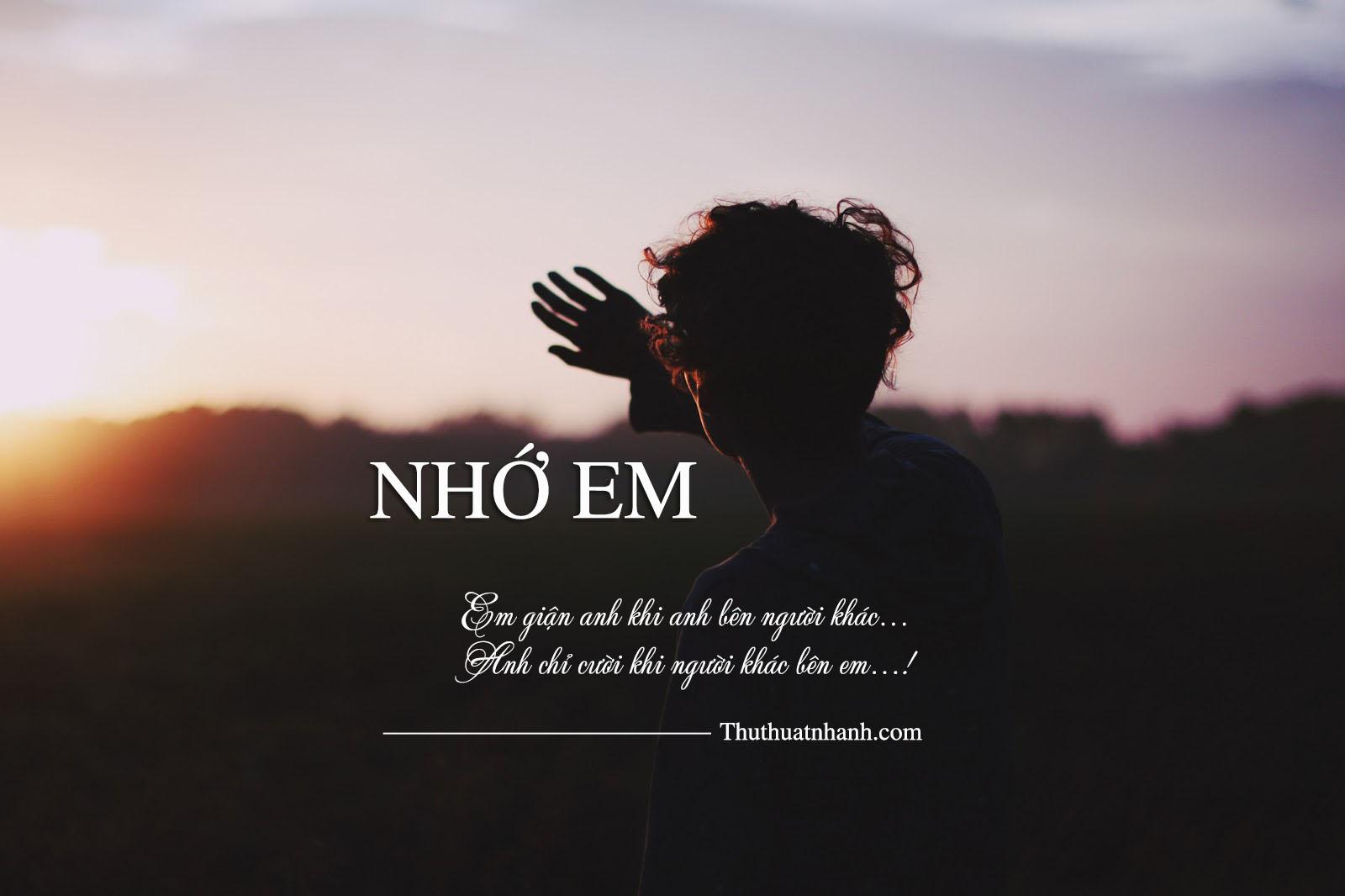 thơ nhớ em