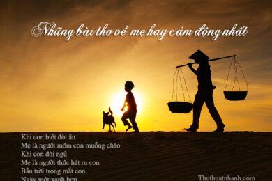 thơ về mẹ hay cảm động