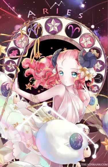 12 cung hoàng đạo anime bạch dương nữ