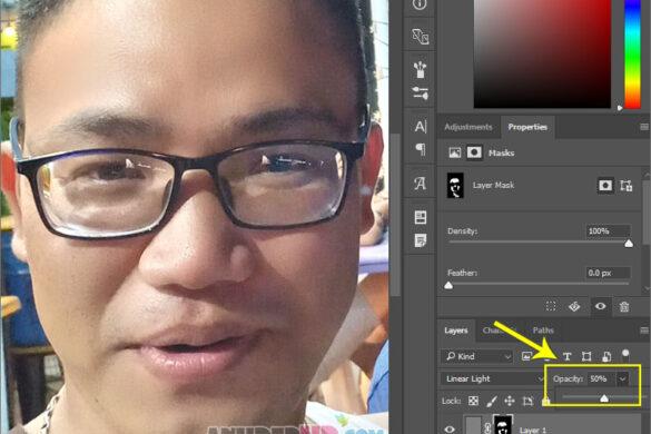cách 1 làm mịn da mặt bằng photoshop
