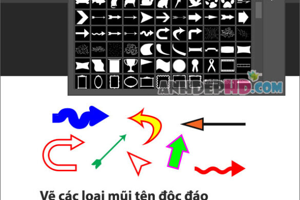 cách vẽ các loại mũi tên độc đáo bằng photoshop