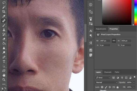 cách xóa mụn và vết thâm trong photoshop
