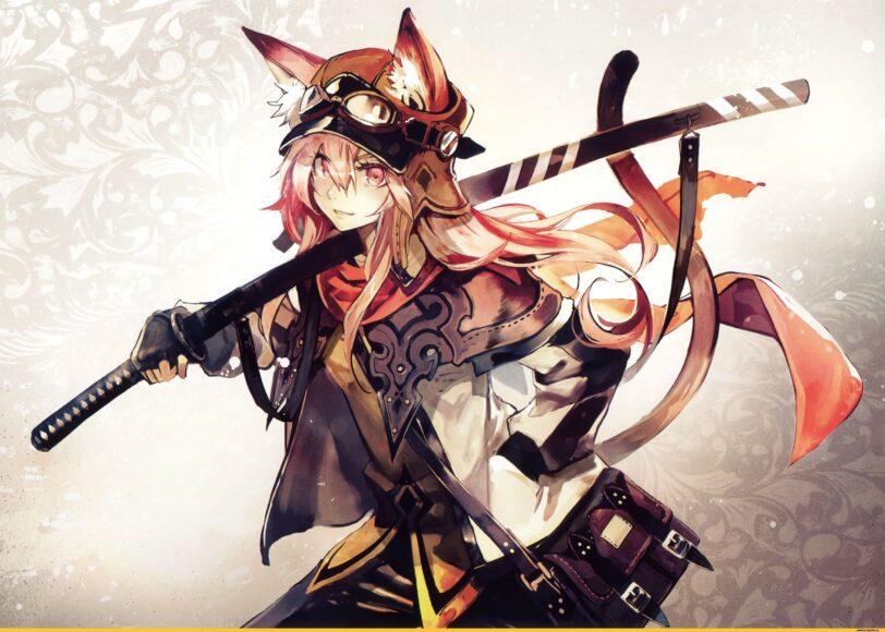 Hình ảnh anime cá tính girl cầm kiếm