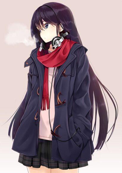 Hình ảnh anime cá tính girl tóc dài