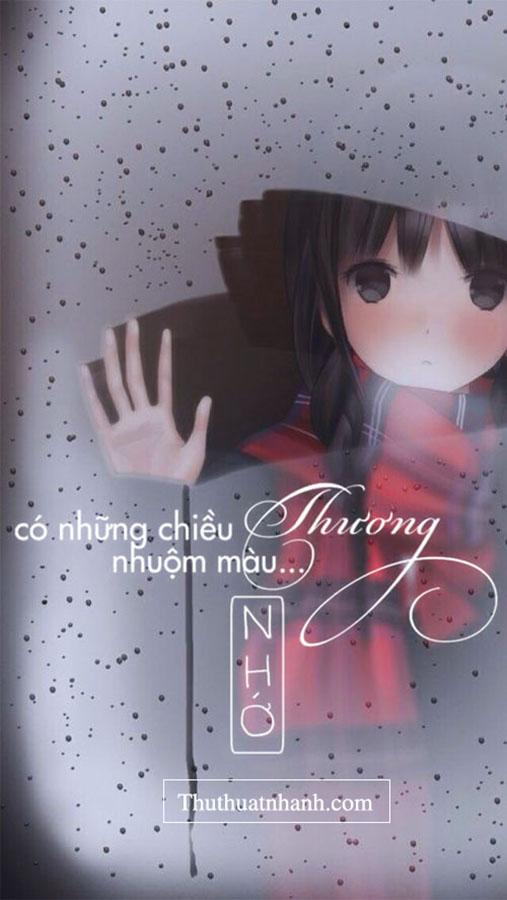 hình ảnh anime chữ nhớ về người yêu không ngủ được