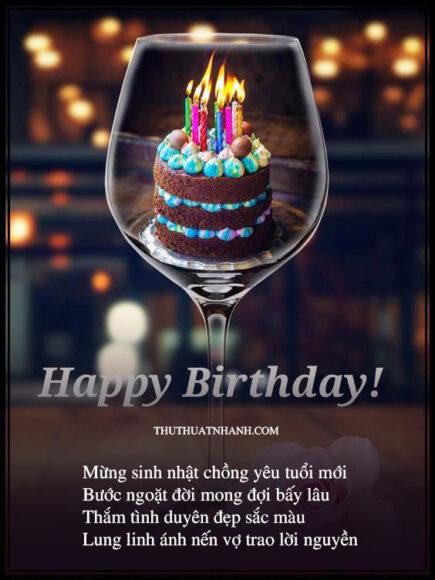 Thơ chúc mừng sinh nhật chồng yêu
