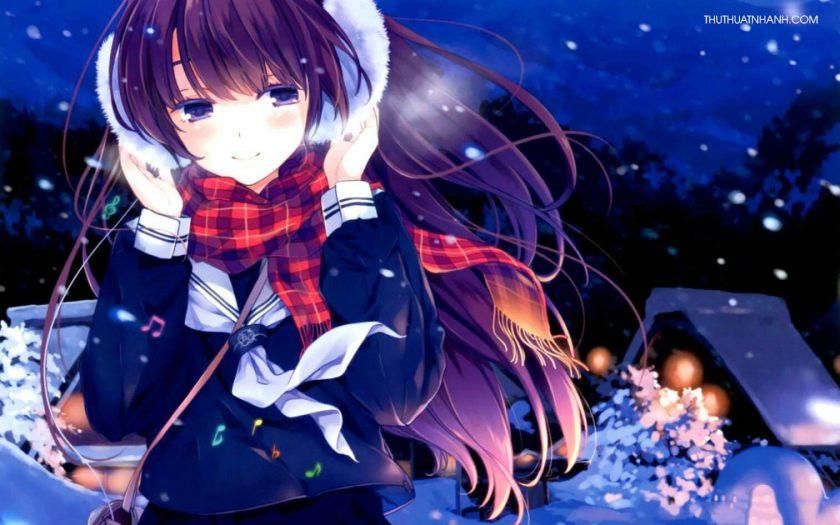 Ảnh anime mùa đông nữ đẹp nhất