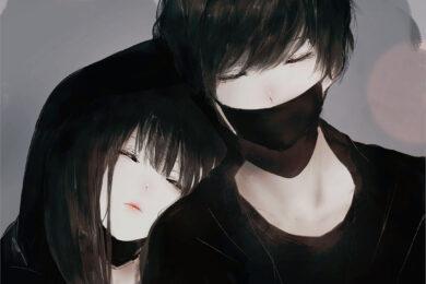 ảnh avatar cặp đôi đen đẹp