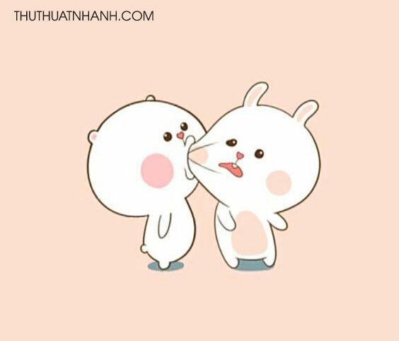 ảnh avatar hôn nhau hài hước