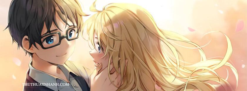 ảnh bìa facebook anime cặp đôi chất