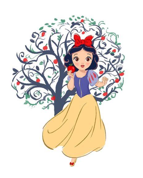 ảnh công chúa - nàng bạch tuyết bên cây táo đỏ