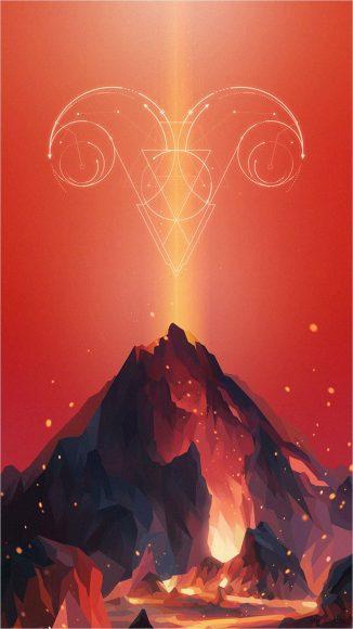 ảnh cung bạch dương - biểu tượng rực sáng như lửa