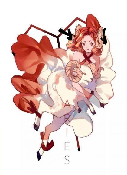 ảnh cung bạch dương - cô gái anime cung bạch dương năng động