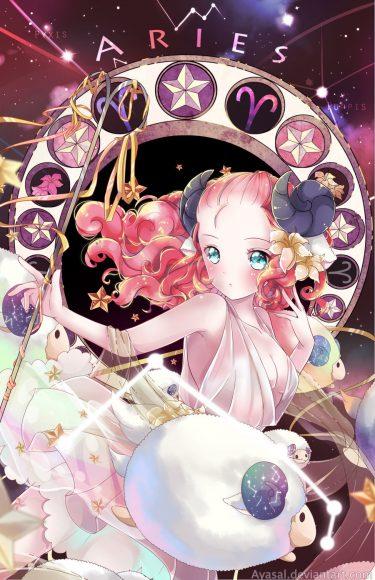 ảnh cung bạch dương - cô gái anime cung bạch dương xinh đẹp