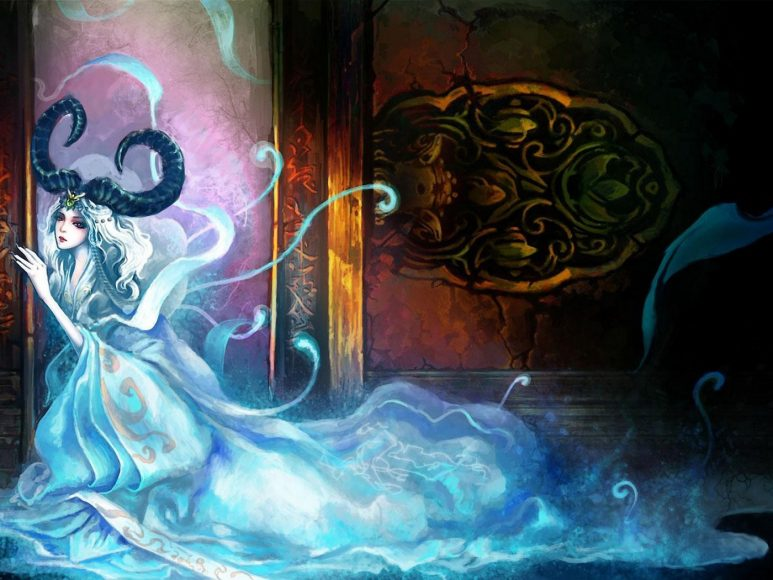 ảnh cung Bạch Dương - cô gái cung bạch dương với bộ vãy lộng lẫy