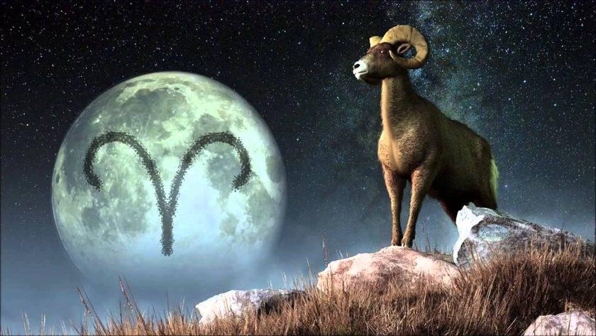 ảnh cung bạch dương - kí hiệu cung nổi bật trên nền trăng tròn
