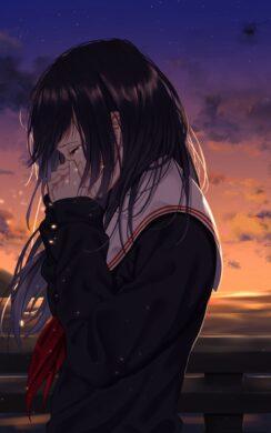 ảnh đại diện avt anime buồn