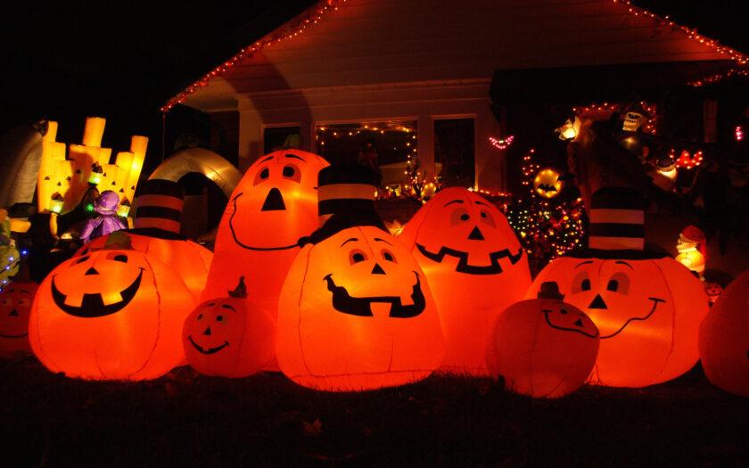 ảnh halloween dễ thương về những quả bí ngô