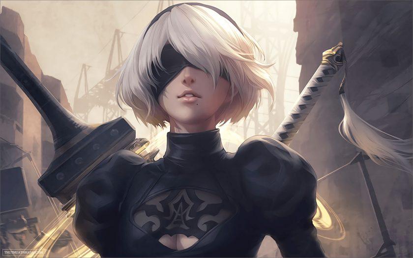 ảnh nền game 4k girl xinh kiếm sĩ