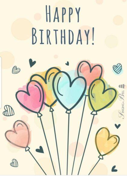ảnh tranh trí lời chúc sinh nhật bằng bóng bay hình trái tim đáng yêu