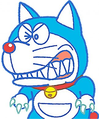 avatar doremon biến thành chó sói
