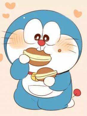avatar doremon đang ăn bánh rán