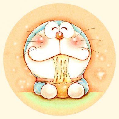 avatar doremon đang ăn mì