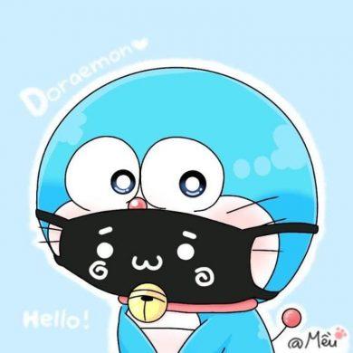 avatar doremon đeo khẩu trang