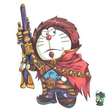 avatar doremon làm anh hùng liên minh huyền thoại