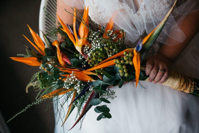 Bó hoa cưới thiên điểu