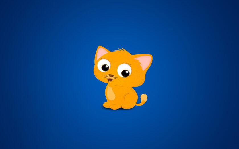 download ảnh nền cute dễ thương về mèo con