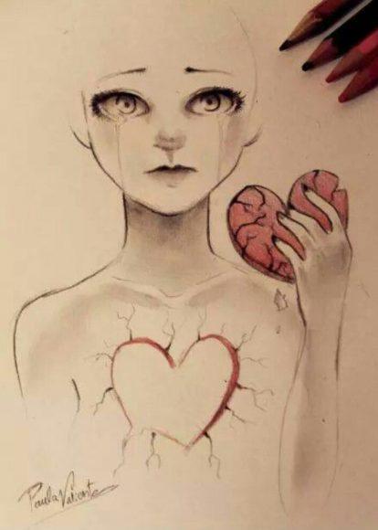 download hình ảnh trái tim buồn