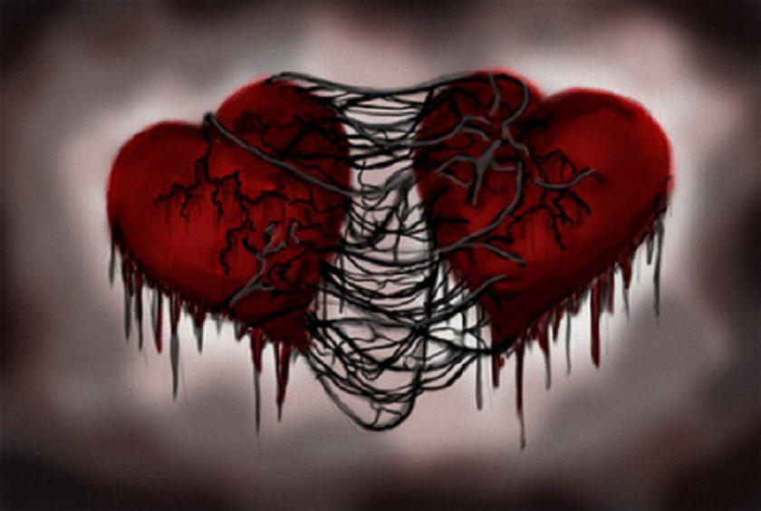 hình ảnh 2 trái tim buồn