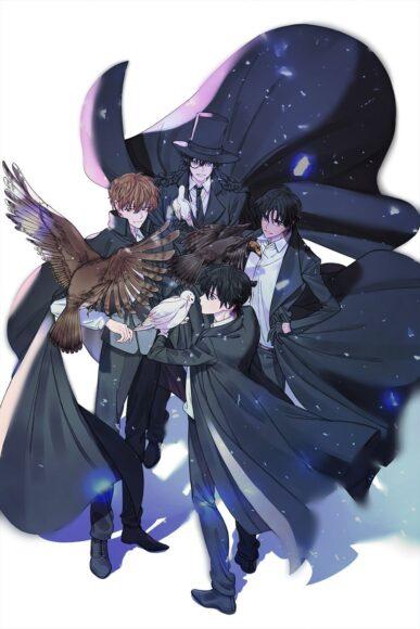 Hình ảnh anime bộ tứ đẹp trai